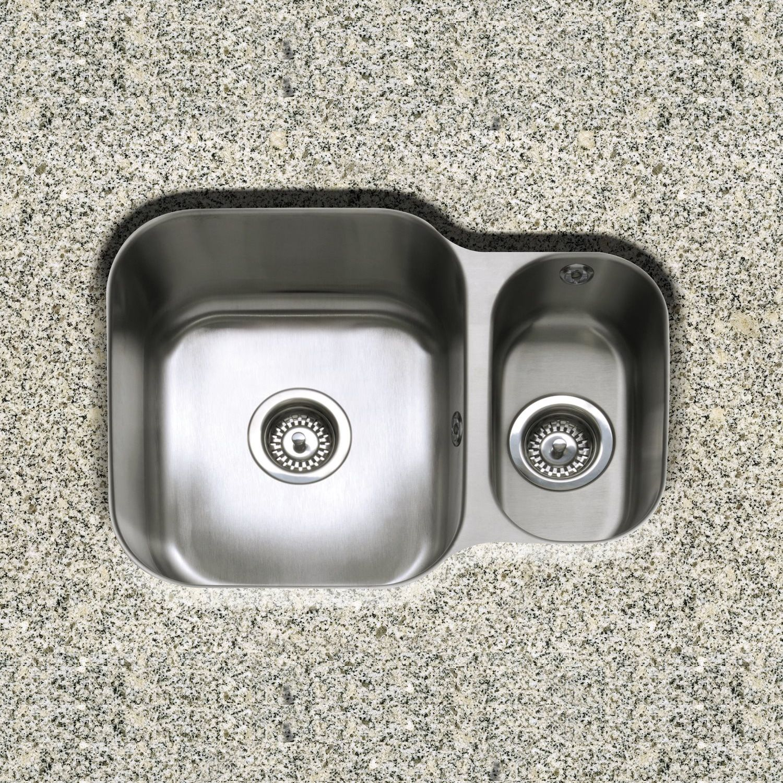 1.5 Bowl Kitchen Sink Form 150 15 bowl reversible undermount sink sinks taps form 150 15 bowl reversible undermount kitchen sink workwithnaturefo