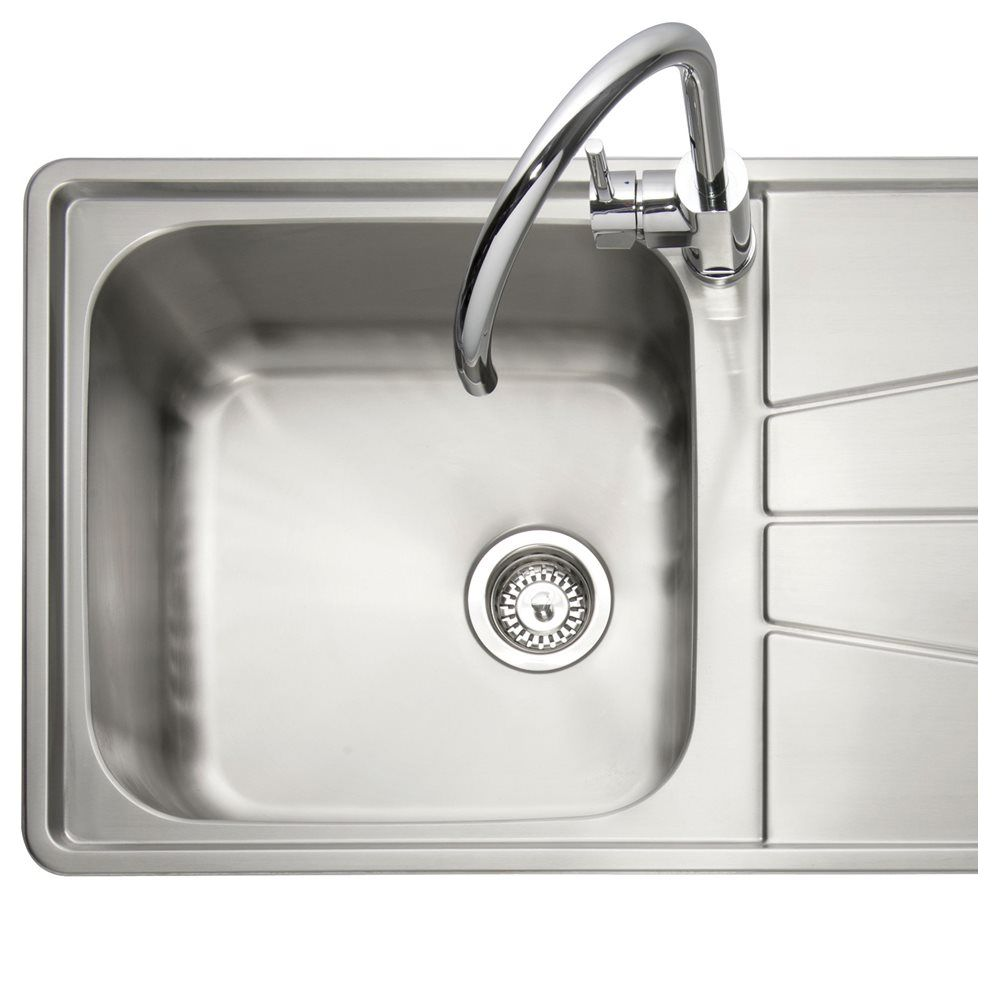 inset stainless steel kitchen sinks caple blaze 100 1 0 bowl inset kitchen sink sinks taps 7530