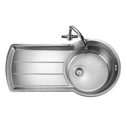 KEYHOLE 1.0 Bowl Kitchen Sink