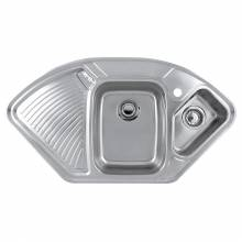 LAUSANNE 1.5 Bowl Stainless Steel Corner Kitchen Sink