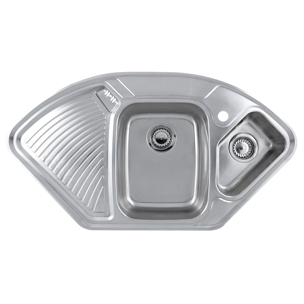 Bon LAUSANNE 1.5 Bowl Stainless Steel Corner Kitchen Sink ...