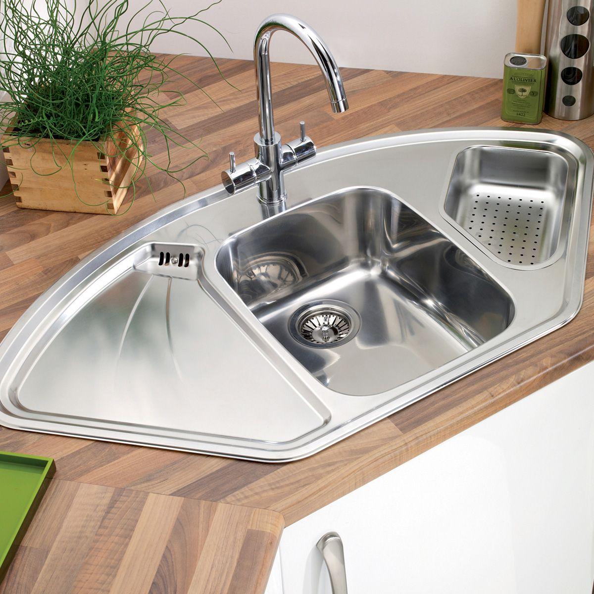 Corner Sink Shape In Kitchen