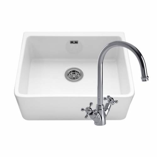 YORKSHIRE Belfast Kitchen Sink With BLUCI VARETELLO Chrome Tap
