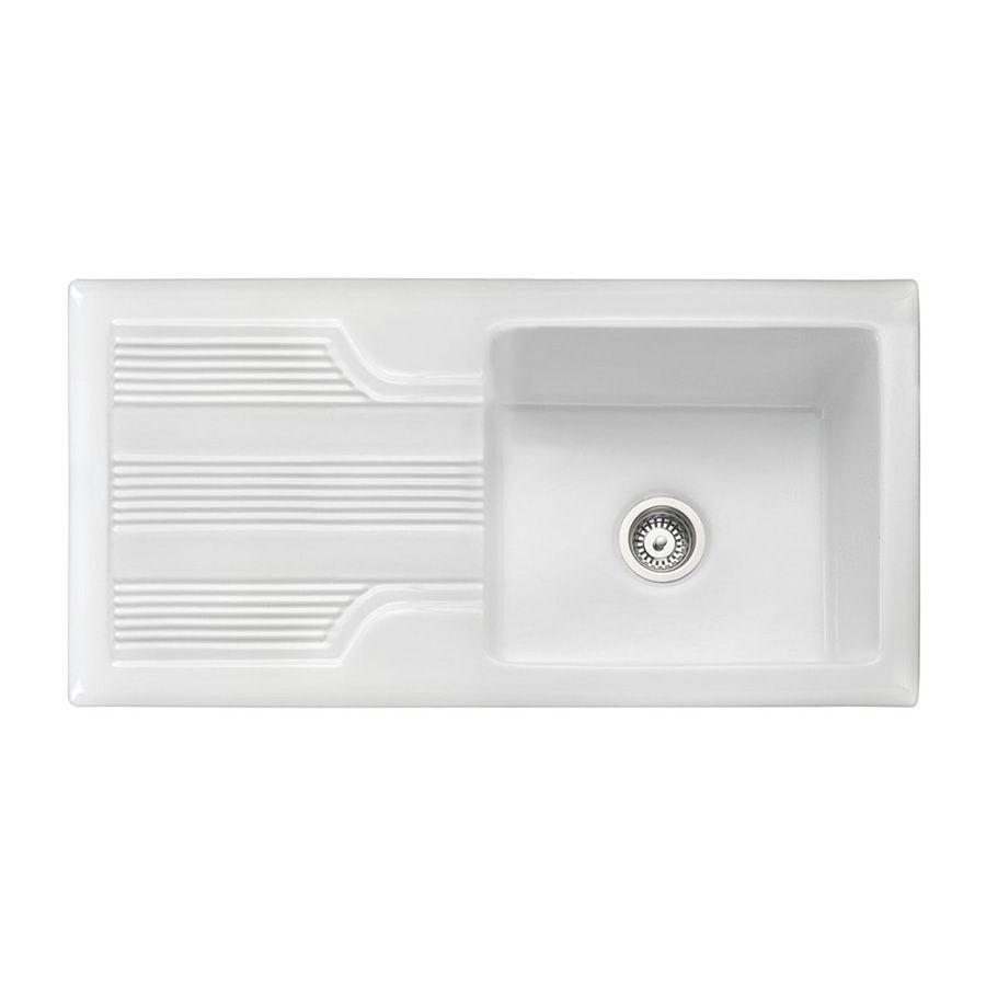 Rangemaster Portland 1.0 Ceramic Sink - Sinks-Taps.com