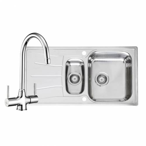 DIPLOMAT ECO 1.5 Kitchen Sink with FREE Reginox Thames Tap