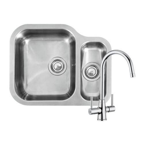 ALASKA 1.5 Bowl Kitchen Sink and FREE Thames Tap