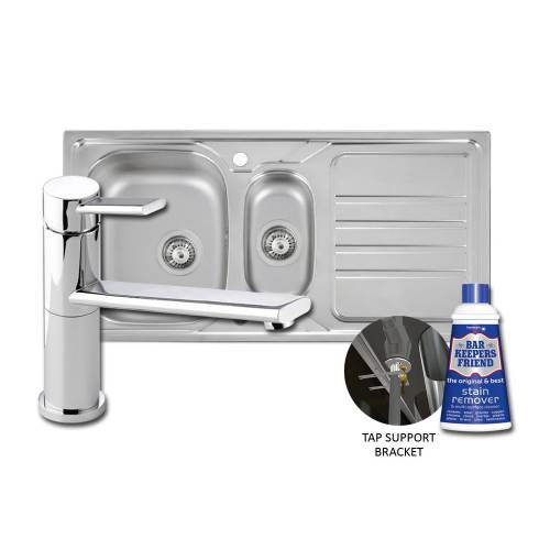 Mikro Kitchen Sink & Specto Tap Pack with FREE ACCESSORIES