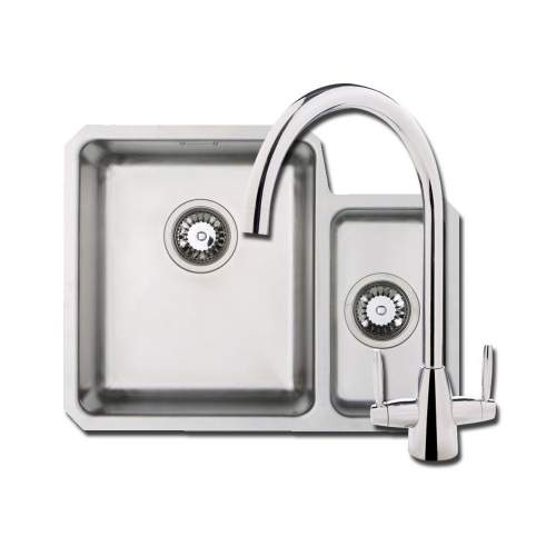 ORBIT 01 Undermount 1.5 Bowl Kitchen Sink with Chrome Tap