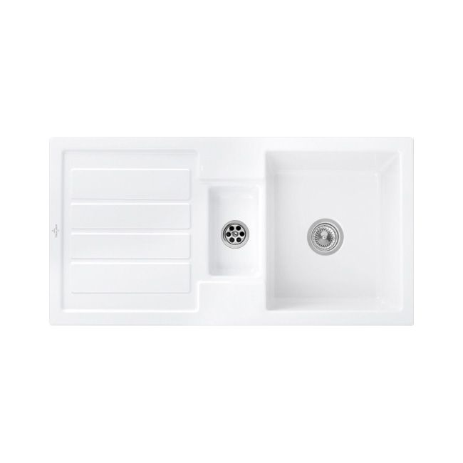Villeroy and Boch Flavia 60 ceramic kitchen sink - Sinks-Taps.com