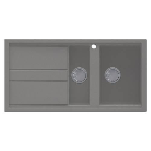 Best 475 1.5 Bowl Inset Granite Kitchen Sink - Grey