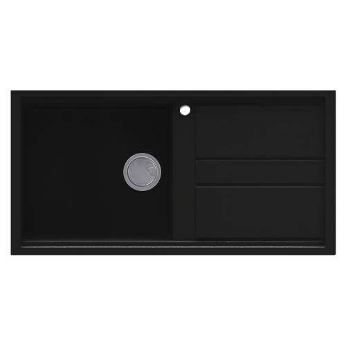 Best 480 Single Bowl Inset Granite Kitchen Sink - Black
