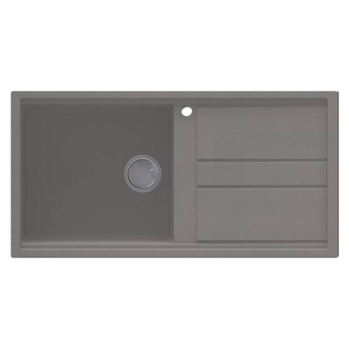 Best 480 Single Bowl Inset Granite Kitchen Sink - Grey