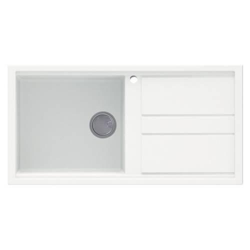 Best 480 Single Bowl Inset Granite Kitchen Sink - White