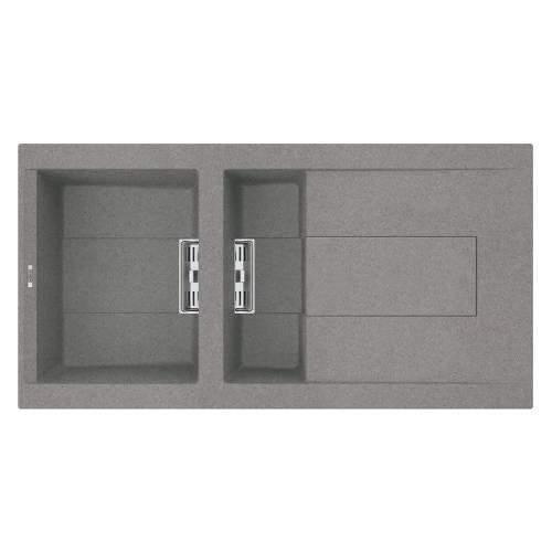 Smart 475 1.5 Bowl Inset Granite Kitchen Sink - Grey
