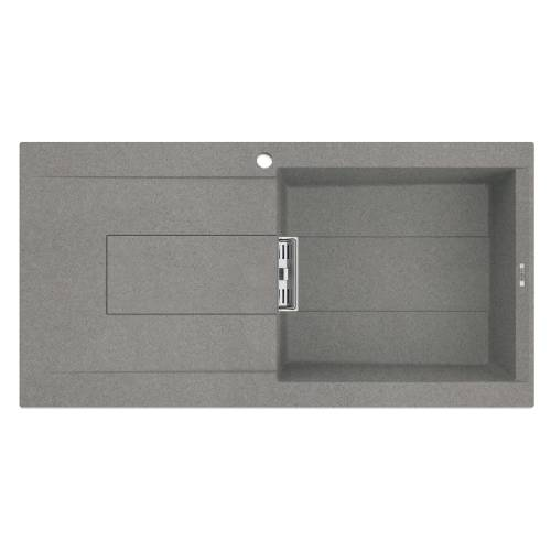 Smart 480 Single Bowl Inset Granite Kitchen Sink - Grey