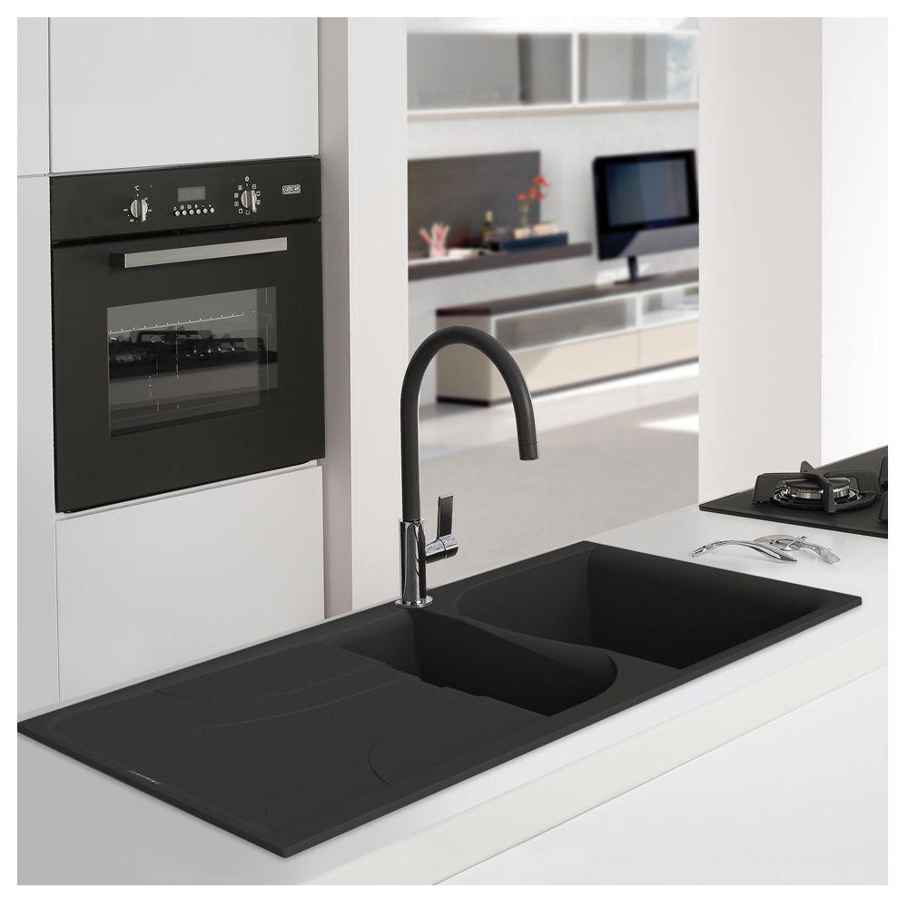 Reginox Ego 475 1.5 Bowl Inset Granite Sink - Sinks-Taps.com