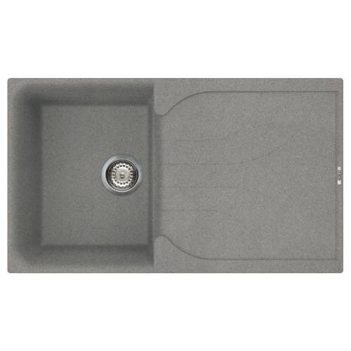 Ego 400 Compact Single Bowl Inset Granite Kitchen Sink - Grey