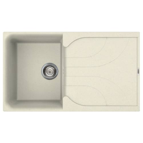 Ego 400 Compact Single Bowl Inset Granite Kitchen Sink - Cream
