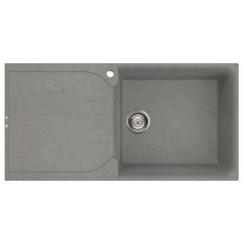 Ego 480 Large Bowl Inset Granite Kitchen Sink - Grey