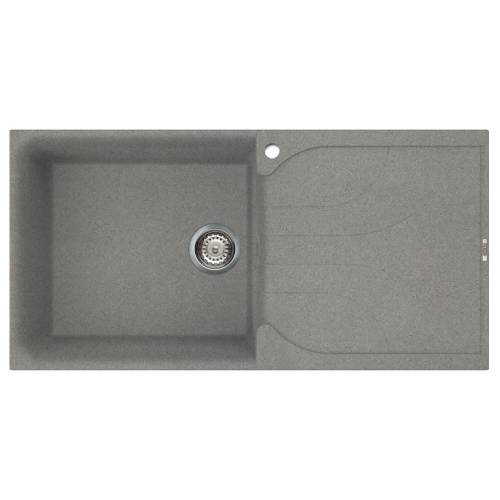 Ego 480 Large Bowl Inset Granite Kitchen Sink - Grey