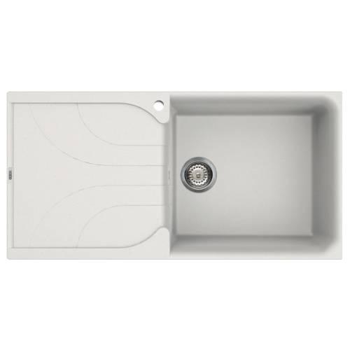 Ego 480 Large Bowl Inset Granite Kitchen Sink - White