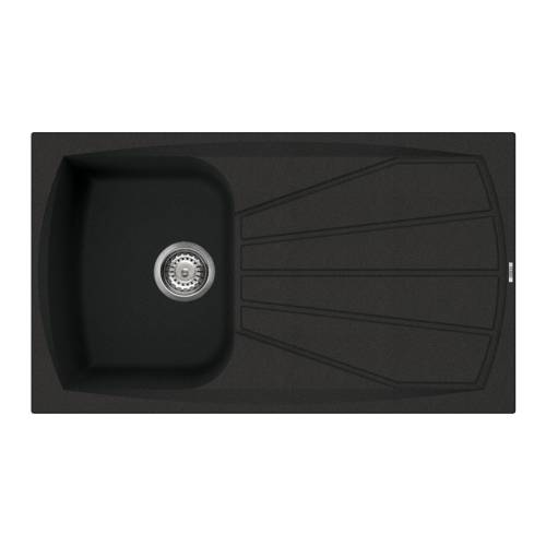 Living 400 Inset Granite Kitchen Sink - Black