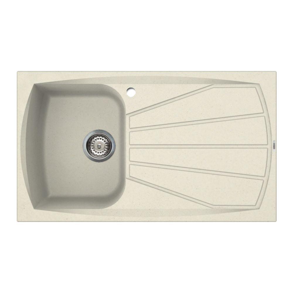 Cream Granite Sink : Reginox Living 400 Inset Granite Sink - Cream - Sinks-Taps.com