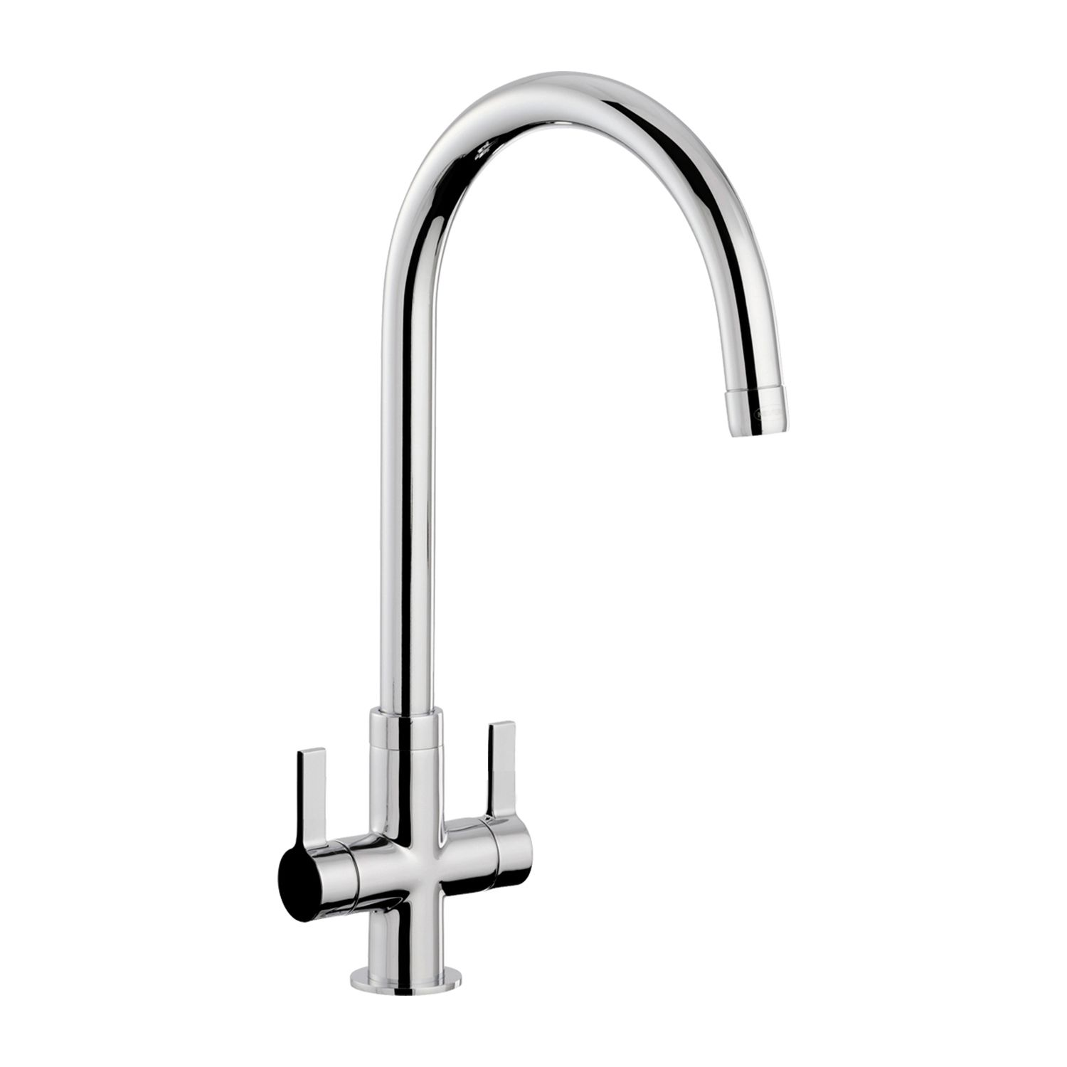 Bluci Cigno WRAS Approved Twin Lever Tap - Sinks-Taps.com