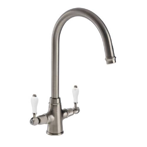 Elegante Twin Lever Monobloc Kitchen Tap
