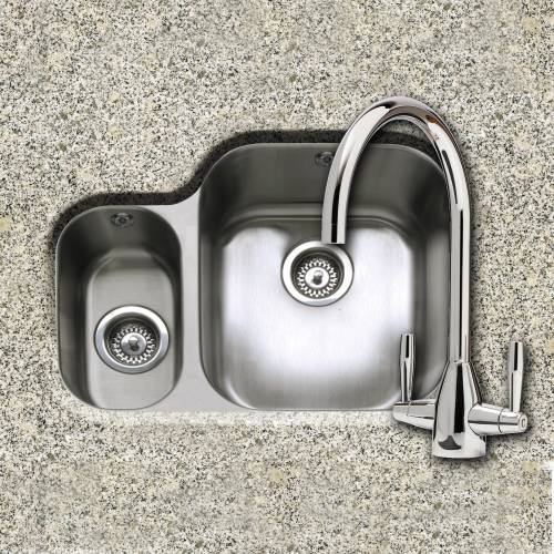 FORM 150 1.5 Bowl Undermount Kitchen Sink and AVEL Kitchen tap Pack