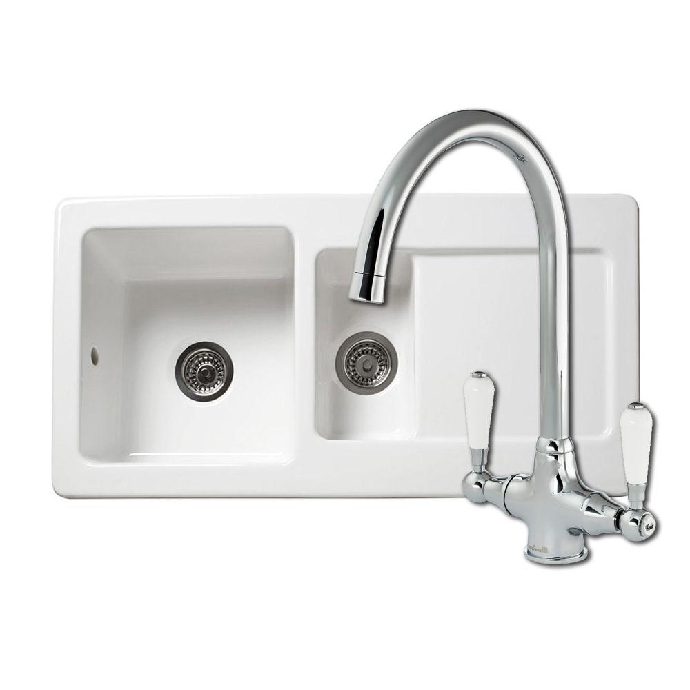Reginox rl501cw ceramic sink elbe tap sinks taps rl501cw 15 bowl ceramic kitchen sink and elbe kitchen tap workwithnaturefo