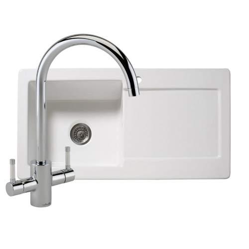 RL504CW Single Bowl Ceramic Kitchen Sink with Genesis Tap