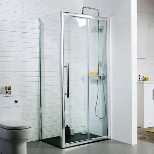 Aquabro 1100mm Sliding Door Shower Enclosure