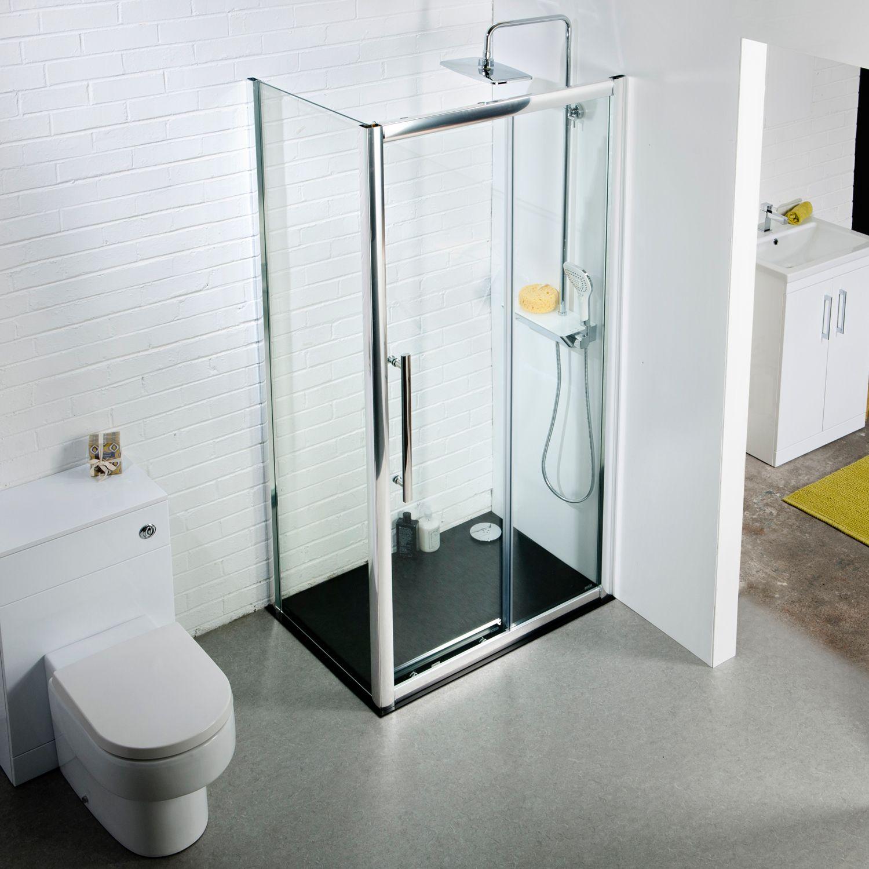 Aquabro 1400mm sliding door shower enclosure sinks for 1400mm sliding shower door