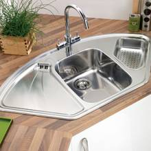 Astracast Lausanne Stainless Steel Corner Kitchen Sink