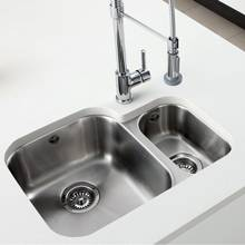 Caple Form 1.5 Bowl Undermount Stainless Steel Kitchen Sink
