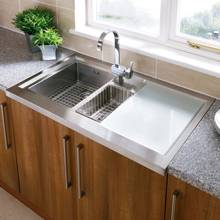 Astracast Bistro 1.5 Bowl Stainless Steel Sit On Kitchen Sink