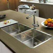Reginox 40x40+40x40 Double Bowl Stainless Steel Kitchen Sink