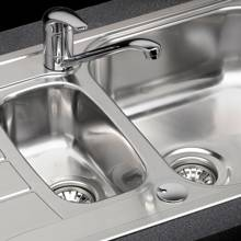 Reginox RL220 1.5 Bowl Stainless Steel Kitchen Sink