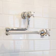 Perrin & Rowe Wall Mounted Pot Filler Kitchen Tap