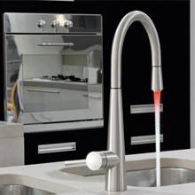 Gessi JUST Monobloc Pull-Out Kitchen Tap with LED Light