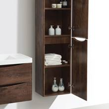 Aquabro Bali Chestnut Wall Mounted Storage Cabinet