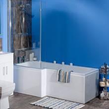 Aquabro L-Shaped Bath