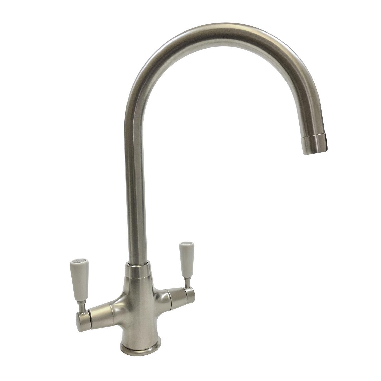 Bluci NENBRO Twin Lever Kitchen Tap - Sinks-Taps.com