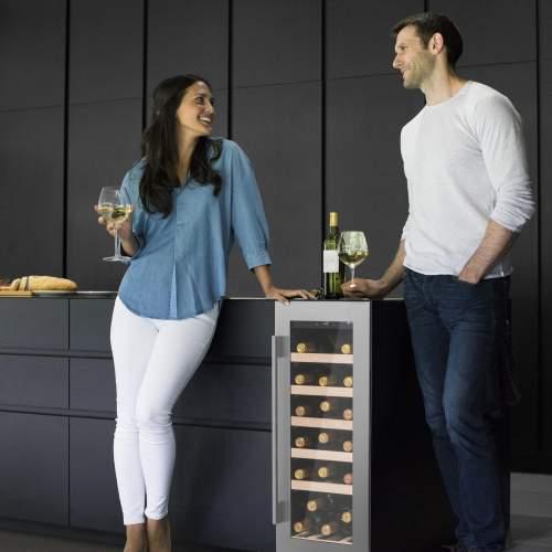Caple Wi3122 SENSE Integrated Under Counter Single Zone Wine Cabinet