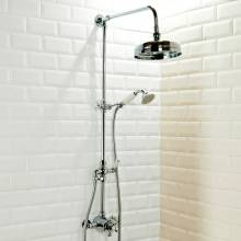 Aquabro Traditional Exposed Thermostatic Shower Valve with Rigid Riser Kit and Diverter