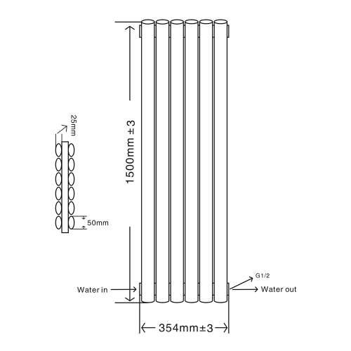 Aquabro RAD09-10 Double Panel Designer Radiator