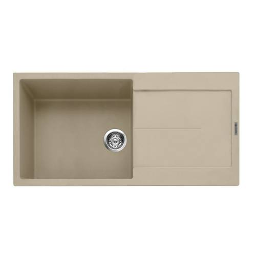 Caple Canis 100 Inset Kitchen Sink With Drainer - Desert Sand
