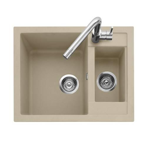 Leesti 150 Inset 1.5 Bowl Sink with Tap - Desert Sand