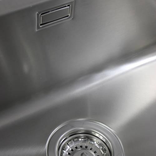 Bluci ORBIT 25 Large Bowl Undermount Kitchen Sink Overflow